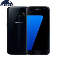 Оригинальный Samsung Galaxy S7 4G LTE Водонепроницаемый Мобильный телефон 5.1 »12MP 4 Г RAM 32 Г ROM NFC Смартфон