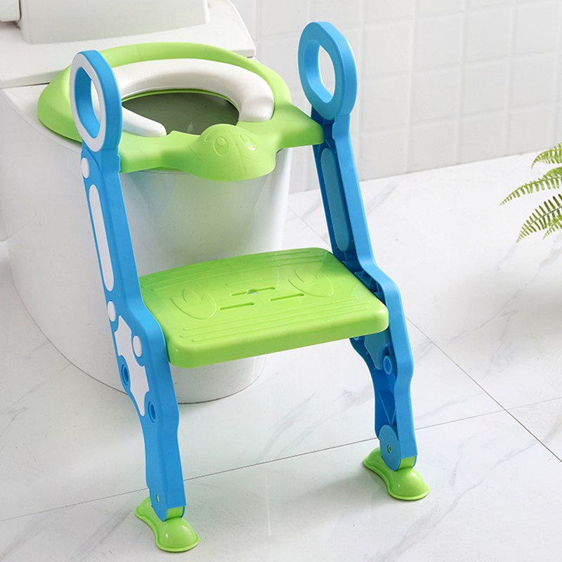 Portable Baby Potty Seat With Ladder Children Toilet Seat Cover Kids Toilet Folding Infant Potty Chair Training