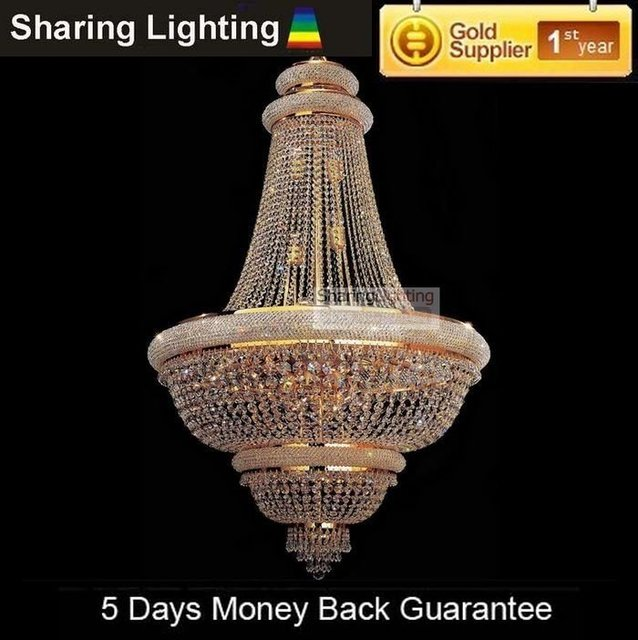 [Huizhuo Lighting]Free Shipping Empire Traditional Crystal Pendant Light