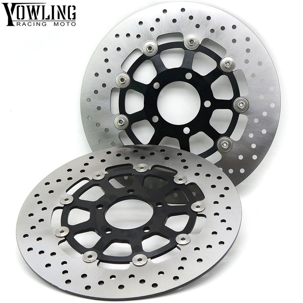 Motorcycle Front Floating Brake Disc Rotor For Suzuki GSX 1400 GSX 1300 GSX1300R TL1000S TL1000R GSX-R 1000 GSX-R 750 GSX-R600 motorcycle front brake disc rotor for suzuki gsx 600 f 1989 1990 gsx 750 f katana 1998 1999 2000 2001 2002 2003 gold