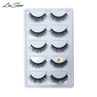 LinShow 50 Pairs 3D Silk Eyelashes Natural Long Crisscrooss False False Eyelashes Hand Made Full Strip Eyelash Makeup Tools