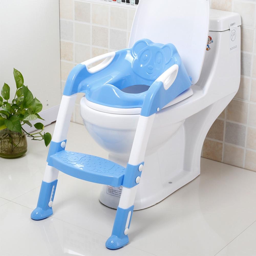 Горшок туалет тренер для приучения к горшку сиденье безопасности аксессуары для малышей складной путешествия унитаз с регулируемой лестни... ...
