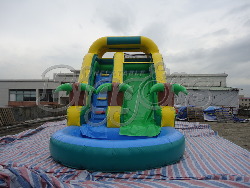 Hot Sell High Quality PVC Commercial Inflatable Water Slide With Pool hot sell high quality cw3000 water chiller cooling laser tube for laser machine