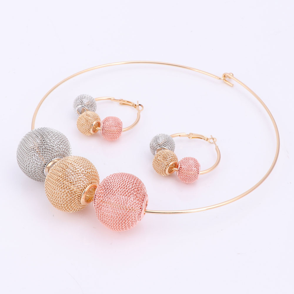 Կանանց ոսկե գույն գնդաձև խոռոչ boho Red - Նորաձև զարդեր - Լուսանկար 2