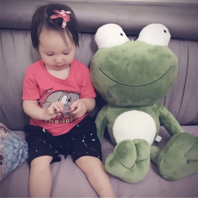 Fancytrader Pop Anime Big Eyes Frog Plush Toy Giant Stuffed Soft Animals Doll 70cm Nice Gifts for Kids fancytrader 2015 new 31 80cm giant stuffed plush lavender purple hippo toy nice gift for kids free shipping ft50367