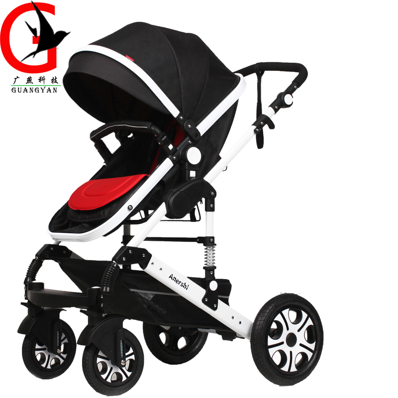 Luxury 3 in 1 Baby Stroller High-Landscape Pram Portable Folding baby Carriage for Newborn Sit and Lie Stroller  AES-A986A цена 2016