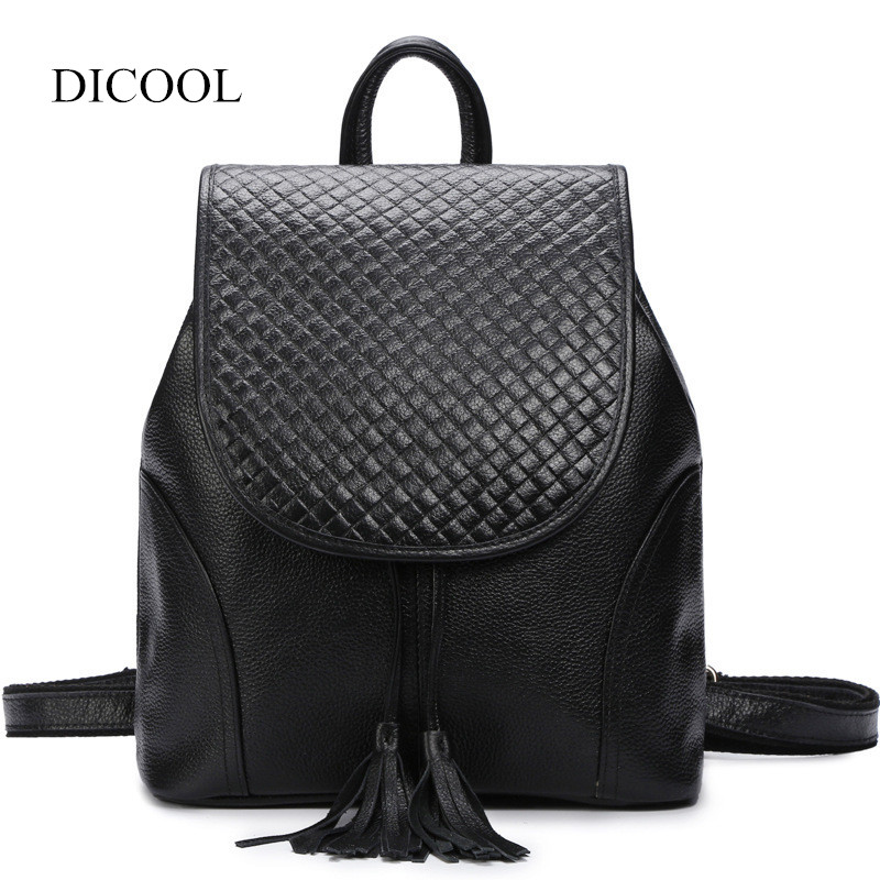 2018 NEW Fashion Backpack Women Backpack Genuine Leather School Bag Women Casual Style