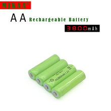 10pcs Ni-MH 1.2V AA Rechargeable 3800mAh 2A Neutral Battery battery batteries