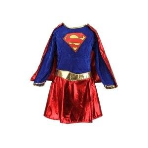 Image 2 - 키즈 어린이 소녀 의상 멋진 드레스 슈퍼 히어로 supergirl 만화책 파티 복장
