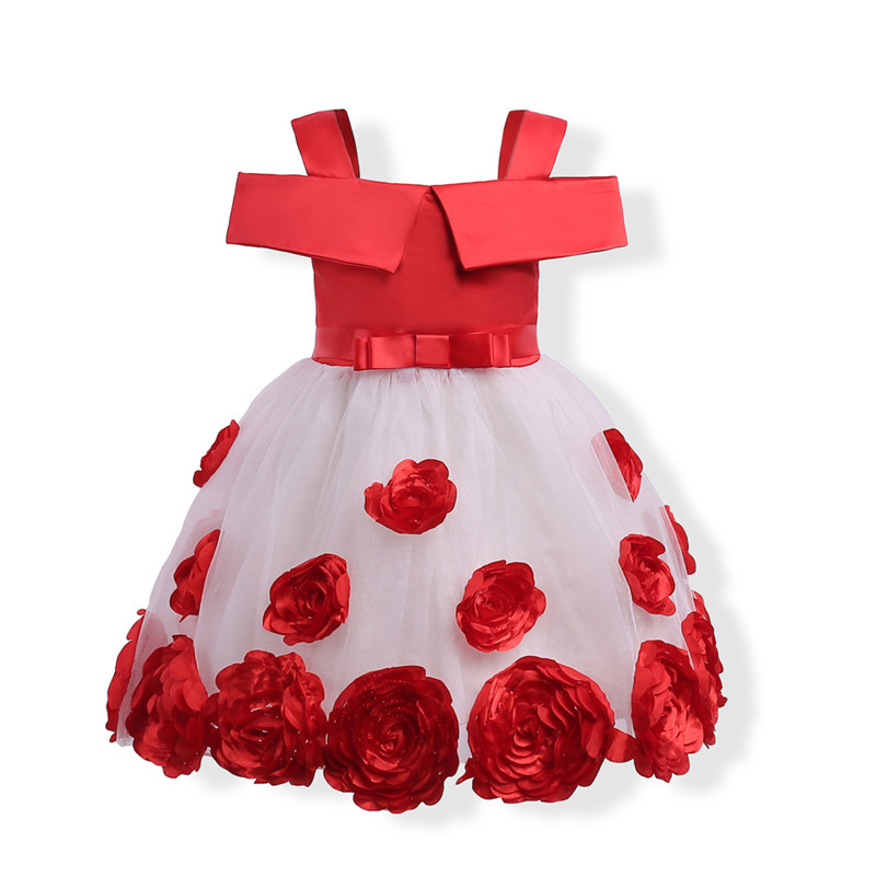 European Style Kids Girls Flower Princess Dress Girls Sleeveless Flower Bow Mesh Wedding Party Pageant Tulle Dresses Cloth 3-10Y hot large hss steel step cone titanium coated drill bit 4 32mm hole cutter drill countersink titanium bit tools