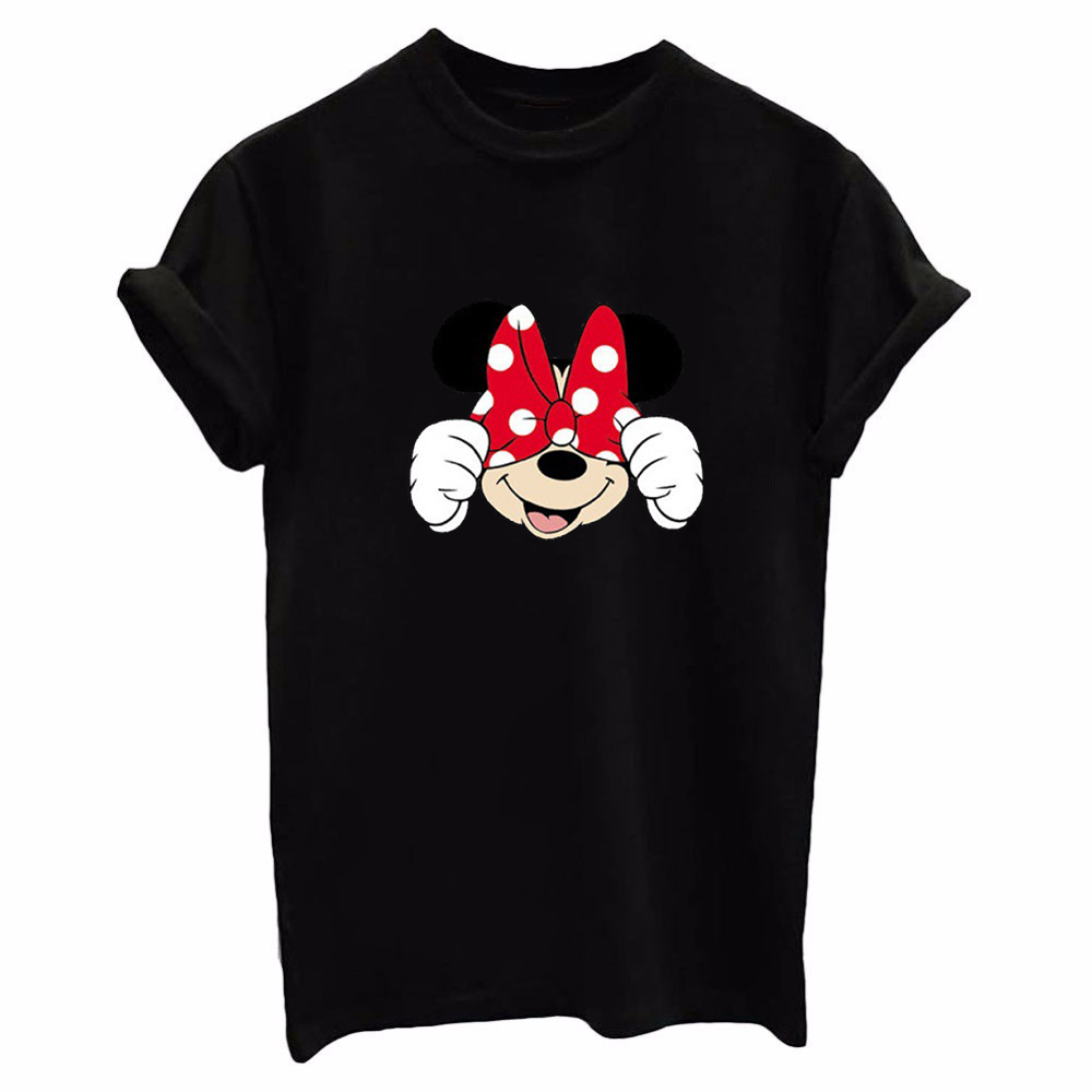 New Cute Totoro T shirt Women Cartoon 3D Harajuku Casual Mic Mouse Tops Tees Blusa Plus Size O Neck T-shirt camisetas G ...