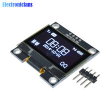Module d'affichage blanc OLED LCD 4 broches 1.3 pouces 1.3 pouces, Interface IIC I2C 128x64 pour Arduino