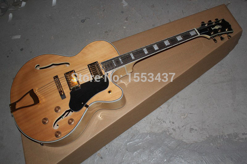 Free shipping New Arrival G L-5 L5 Jazz guitar F -Semi Hollow Natural color Electric guitar in stock hot selling g custom shop limited lp florentine jazz semi hollow body electric guitar desert burst in stock