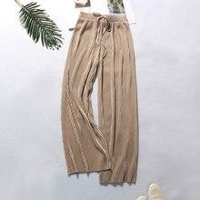 дешево!  2019 брюки-карго для женщин Новый стиль лаконичный повседневный сплошной цвет с длинными рукавами