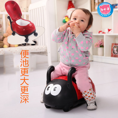 Cute Bugs toilet toilet potty increase children's baby toilet stool to sit garden bugs