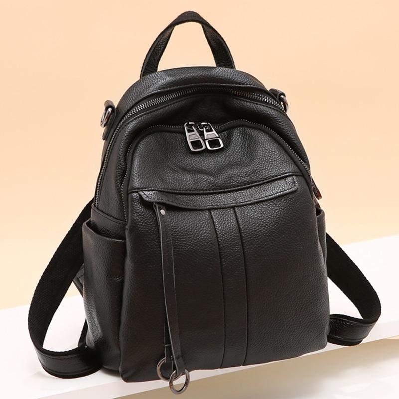 Fashion Daypack Rucksack Cowhide Knapsack Travel Bag Multi-Functional Female Genuine Leather One Shoulder Bags  Women BackpackFashion Daypack Rucksack Cowhide Knapsack Travel Bag Multi-Functional Female Genuine Leather One Shoulder Bags  Women Backpack
