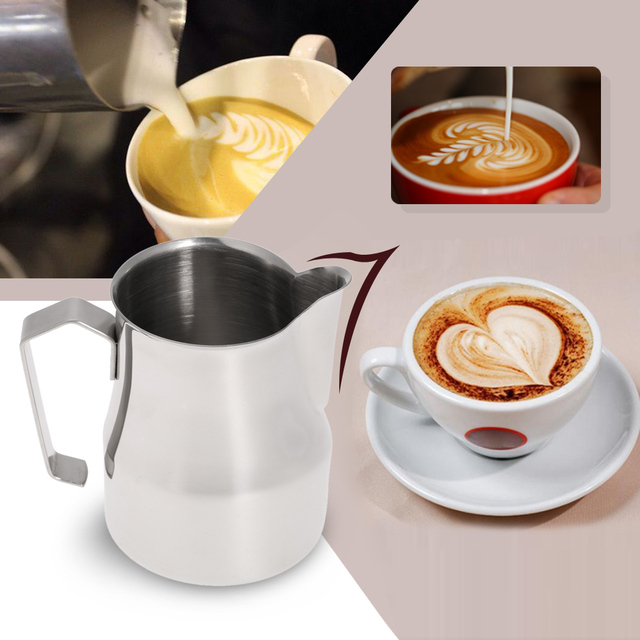 350 550 750ml 304 Stainless Steel Milk Frother Pitcher Professional Coffee Decoration Italian Type