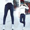 Девочек джинсы детские новые 2016 весна девушки модные брюки дети тянутся узкие брюки 4 6 8 10 12 14 лет для подростков джинсы