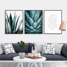 Nordic Canvas Painting Green Aloe Succulent Plants modern minimalist Wall Art