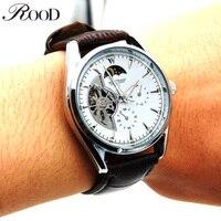 Men Watches Mechanical Hand Wind Skeleton Tourbillon Hollow Mens WristWatch Sports Luxury Leather Strap Reloj Hombre