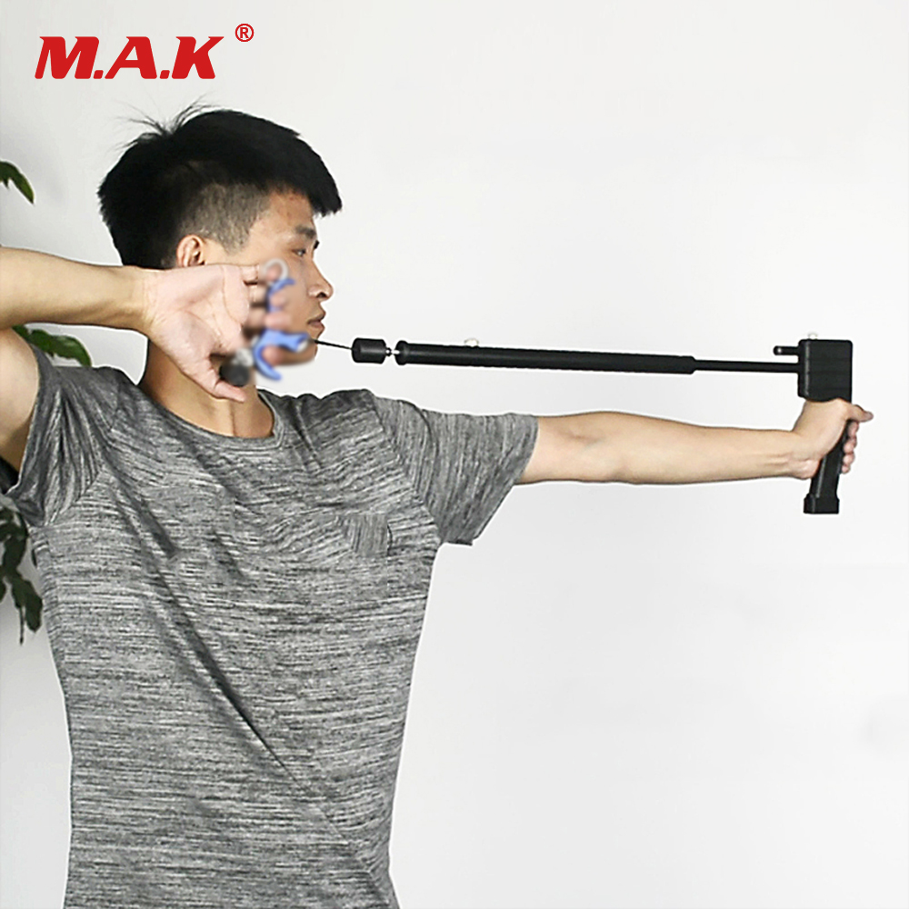 Compound Bow Release Training Tool With Laser 61.5x9x5cm Release Trainer Holding Bow Stability Bow Accessory For Hunting