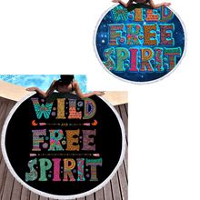 Large Words Beach+towels for Travel High Quality Round Microfiber Beach Towels Adult Summer Bath Stuff  E1