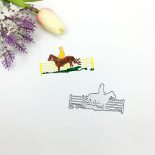 Julyarts Riding Horse Die Metal Cutting For DIY Scrapbooking Stencil Paper Embossing Card Making Craft Cut Troqueles