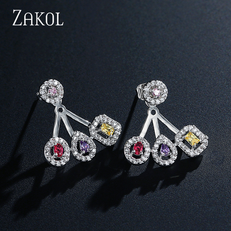 ZAKOL Brand New Delicate Luxury Gemoetric Cubic Zirconia Drop Earrings for Women Party Wedding Jacket Jewelry FSEP2083ZAKOL Brand New Delicate Luxury Gemoetric Cubic Zirconia Drop Earrings for Women Party Wedding Jacket Jewelry FSEP2083