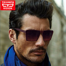 443e3e0cbfb TRIUMPH VISION Cool Square Sunglasses Men Brand Designer Sun Glasses For Men  Gradient Lens 100% UV400 Shades Oculos Male 2018