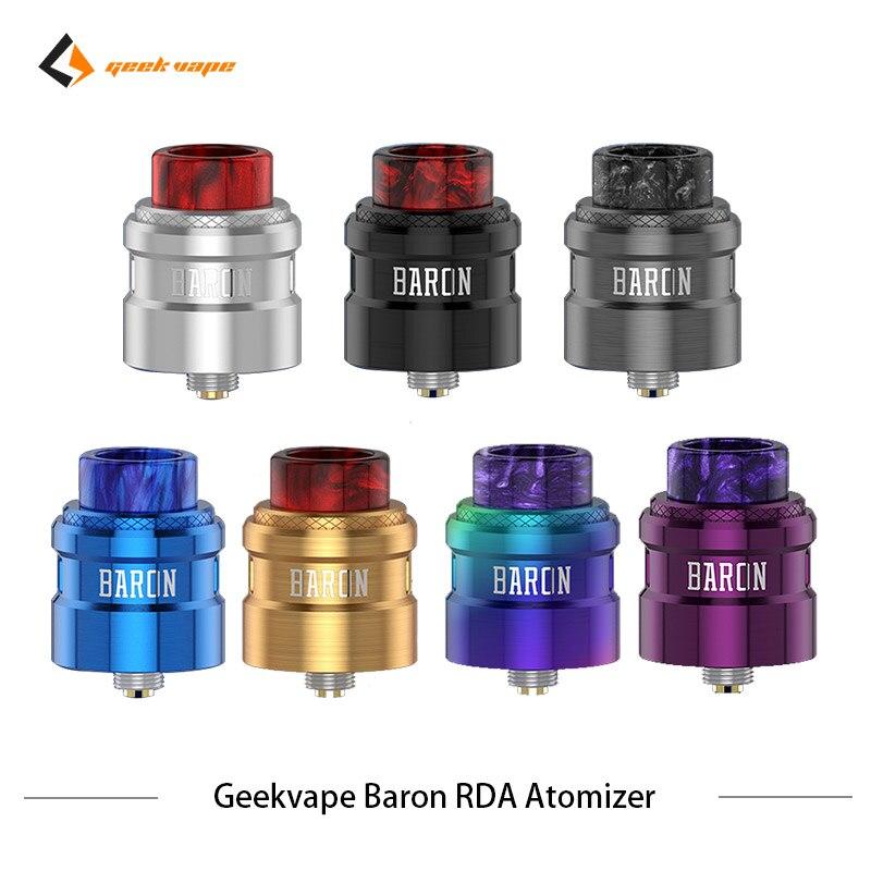 2 pcs/lot Geekvape Baron RDA système de flux d'air 24mm atomiseur RDA Squonker RDA 510 vs drop dead RDA réservoir de Vape de Cigarette électronique