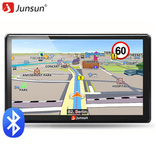 Junsun 7 inch HD Car GPS Navigation FM Bluetooth AVIN Europe Map Free Upgrade Sat nav Automobile Gps Navigators