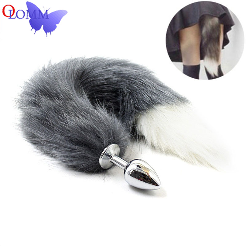 Adult Products Fetish Sex Products Fox Tail Metal Anal Plug BDSM Erotic Toys Stainless Steel Unisex Butt Plug Play Sex Costumes