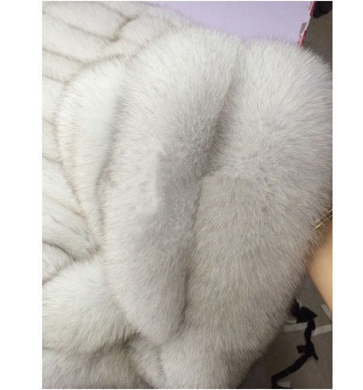 2017 Sans Artificielle Veste D'hiver Vison rouge gris Gilet ardoisé Chaud Manteaux Femmes Noir rose Manches Fourrure blanc Faux Manteau Gilets Mode De Spwqx78
