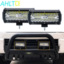 1pcs 7 Inch 120W Combo Led Light Bars Spot Flood Beam for Work Driving Offroad Boat Car Tractor Truck 4x4 SUV ATV Styling