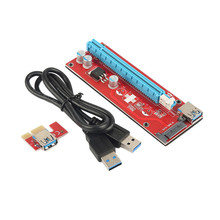 Best PCI-E PCI Express Riser Card Mining 1x to 16x USB 3.0 Cable SATA to 6 Pin IDE Molex Power Supply for BTC Miner Machine