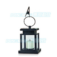4pcs rechargeable batteries candle Gifts & Decor black Iron solar power lantern, solar energy exterior light, led solar lamp