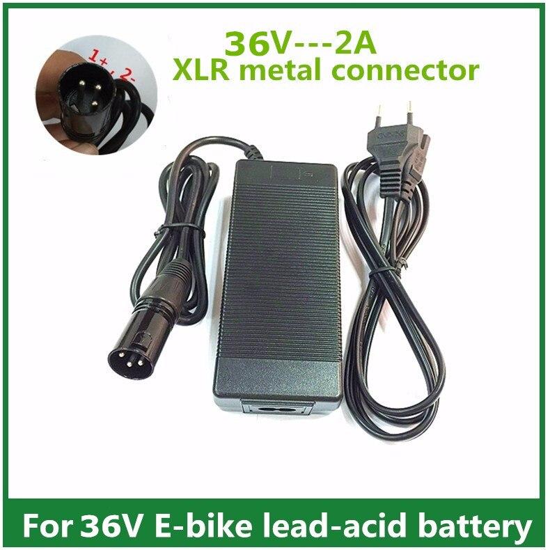 36 v 2A blei-säure batterie Ladegerät elektrische roller e fahrrad ladegerät rollstuhl ladegerät mit XLR metall stecker