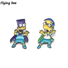 Flyingbee Brooch Cartoon Enamel Pins For Women Men Backpack badge Personality Hat Pin Kids Pin Charm Jewelry X0157