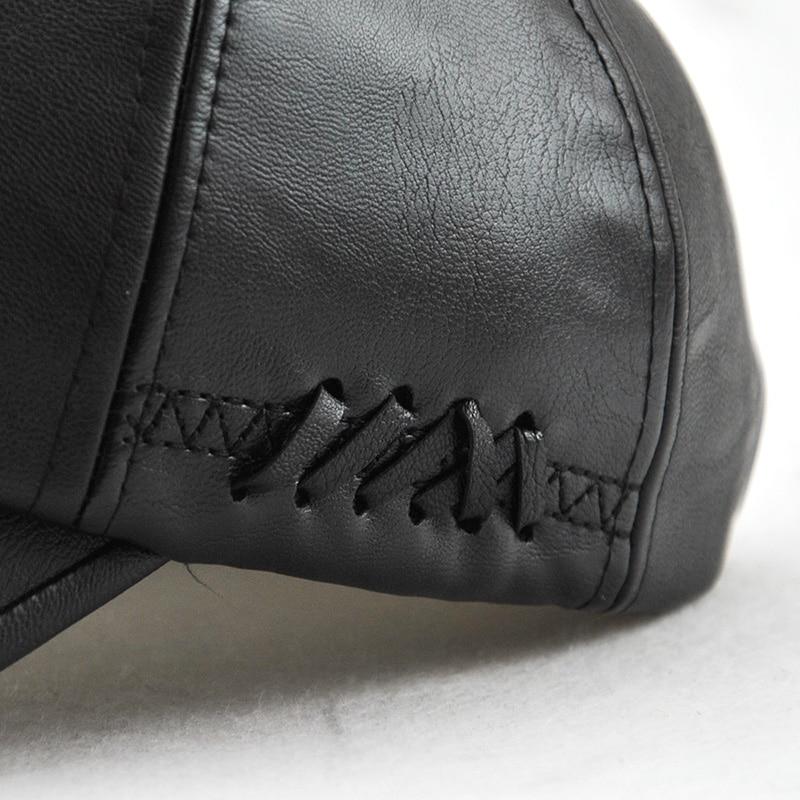 Xthree New fashion kualitas tinggi jatuh musim dingin pria kulit topi - Aksesori pakaian - Foto 5