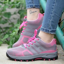 Steel Toe Work Women Work Boots For Mesh Women Lightweight Breathable Anti-smashing Non-slip Protective Safety Shoes SIZE-40