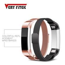 Smart Accessories Metal Wrist Strap Bracelet Magnetic buckle Replacement watchband for Original fitbit alta hr Wristbands