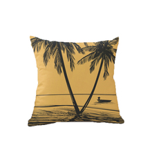 4Pcs/Lot Printed Pillow Case Cushion Cover 45*45cm Coconut Tree Decorative Cushion Cover for Sofa Chair Seat Car Pillow Cover shabby chic car decorative cushion cover retro truck mini bus game chair pillow cover 45cm pillow case home decor sofa bedding