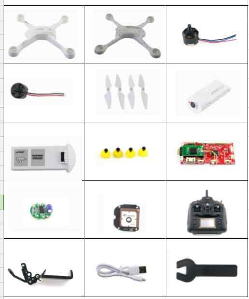 JJPRO X3 GPS Drones RC Quadrocopter spare parts body shell motor blades set receiver board camera