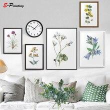 hot deal buy print fashion botanical print bedroom wall art vintage flower print boho decor modern canvas painting