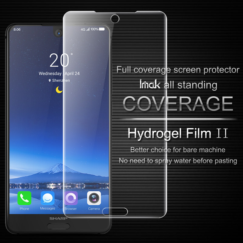 Imak Anti Glare Hydrogel 2th Generation Film for SHARP AQUOS S2 Screen Protector 3D full Cover Protector for SHARP S2 Back Film