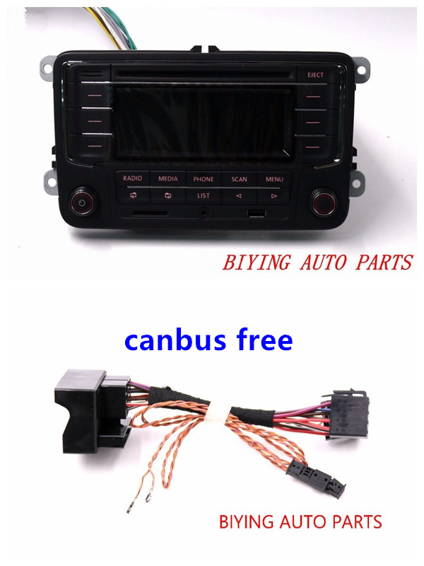 Car Radio Head Unit RCN210 + Canbus CD USB MP3 SD Card AUX BTPlayer for Golf 5 6 Jetta Mk5 6 Passat B6 B7 CC Tiguan