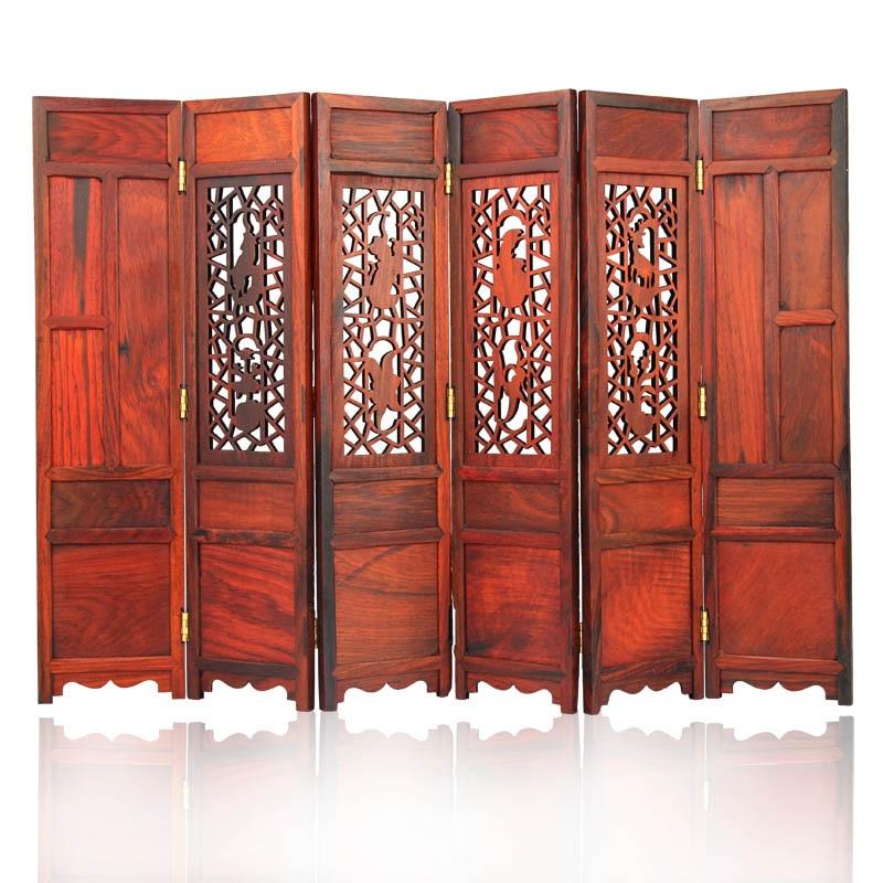 14,5*9,8 cm Винтаж Home Decor Мини Китайский классический складной Экран традиционные природные деревянный резной Книги по искусству коллекция