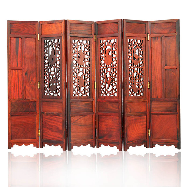Home Decor Rosewood Small Folding Decorative Screen Promotion Movable Table  Screen Shabby Retro Chic Home Decoration