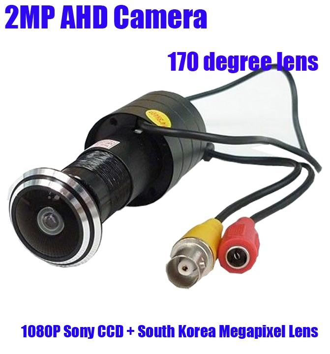 bilder für 1080 P 2mp Mini AHD Türaugenkamera 1,78mm Fisheye-objektiv 2000TVL 2,0 megapixel peehole tür sicherheit cctv-kamera
