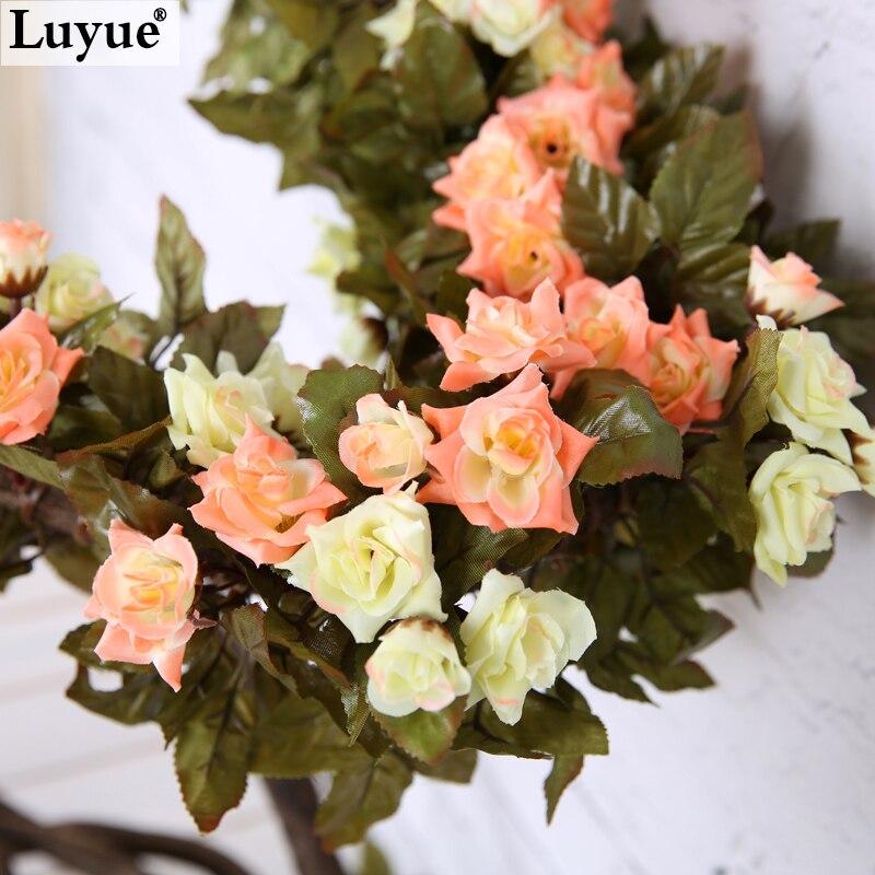 7.38ft Wedding decoration New 2015 Artificial Fake Silk Rose Flower Vine Hanging Garland Wedding Home Decor